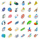General director icons set, isometric style. General director icons set. Isometric set of 36 general director vector icons for web isolated on white background Stock Photos