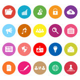 General document flat icons on white background Royalty Free Stock Photography