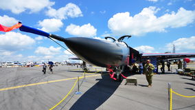 General Dynamics F-111 military jet at Airshow Stock Image