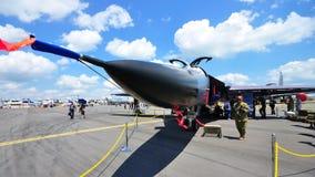 General Dynamics F-111 military jet at Airshow. Royal Australian Air Force General Dynamics F-111 military jet at Singapore Airshow 2010, taken on 03 Feb 2010 Stock Image