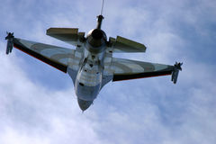 The General Dynamics F-16 Fighting Falcon jet. Engine power rocket war fighter Royalty Free Stock Image