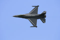 General Dynamics F16. F16 performing on the Sanicole Air Show, Belgium Royalty Free Stock Photo
