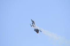 General Dynamics F16 in steep climb Stock Photo