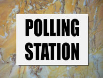 General elections polling station Royalty Free Stock Photos