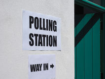 General elections polling station Royalty Free Stock Photo