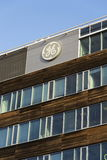 General Electric company logo on the headquarters building on February 5, 2017 in Prague, Czech republic. Royalty Free Stock Photo