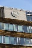 General Electric-Firmenlogo auf den Hauptsitzen, die am 5. Februar 2017 in Prag, Tschechische Republik errichten Stockbilder