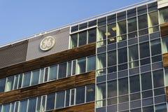 General Electric-Firmenlogo auf den Hauptsitzen, die am 5. Februar 2017 in Prag, Tschechische Republik errichten Lizenzfreies Stockbild