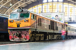 General electric locomotive. Royalty Free Stock Photo