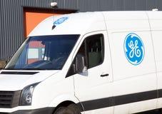 General Electric tecken på en bil Fotografering för Bildbyråer