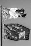 General and Europe flag Stock Images