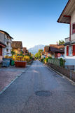 General european street. Morning sunlight Royalty Free Stock Photography