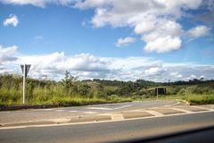 General fields brazil. Road to the city of general fields Minas Gerais Brazil royalty free stock photo