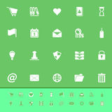 General folder color icons on green background Stock Images
