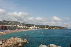 General form Lloret de Mar, Spain. stock photography