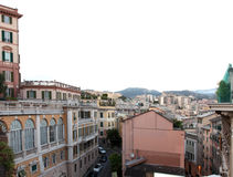 General Genoa view. GENOA, ITALY - JULY 16, 2014: General Genoa view on July 16, 2014 in Genoa, Italy. It is one of Europes largest cities on the Mediterranean Stock Photography