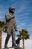 General George Patton Statue. Statue at the General Patton Museum, California royalty free stock image