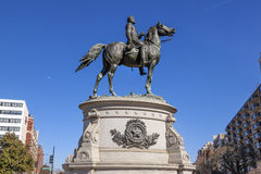 General George Thomas Civil War Statue Moon Washington DC. Major General George Henry Thomas Memorial Civil War Statue Moon Thonmas Circle Washington DC.  Bronze Stock Photography