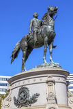 General George Thomas Civil War Statue Thomas Circle Washington DC. Major General George Henry Thomas Memorial Civil War Statue Thomas Circle Washington DC Stock Photo