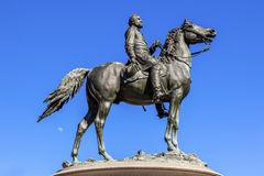 General George Thomas Civil War Statue Thomas Circle Washington DC. Major General George Henry Thomas Memorial Civil War Statue Moon Thomas Circle Washington DC Royalty Free Stock Photos