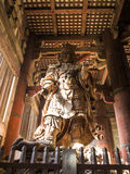 General guardian of Daibutsu Buddha of Todai-ji Temple Nara Stock Image