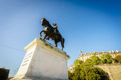 General Guillaume-Henri Dufour statue, Geneva, Switzerland Stock Images