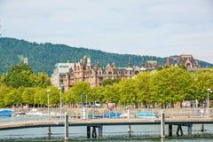 General-Guisan-Quai street / Arboretum, Zurich, Switzerland Royalty Free Stock Photos