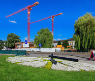 General Guisan quay in the city of Zurich, Switzerland Royalty Free Stock Photography