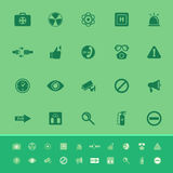 General healthcare color icons on green background Stock Photos