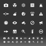 General healthcare icons on gray background Royalty Free Stock Image