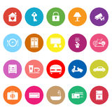 General home stay flat icons on white background Stock Photos