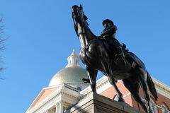 General Hooker and the Boston State House Royalty Free Stock Photos