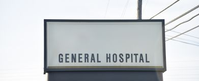 General Hospital and Trauma Center. A General hospital is  a hospital in which patients with many different types of ailments are given care stock photos