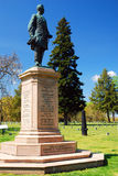 General Humphrey at Civil War Military Cemetery. A statue honoring General Humphrey`s Pennsylvania Division sits in a Civil War Military Cemetery in Stock Image