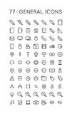 General Icon Set royalty free illustration