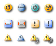 General icons. Icon set suitable for customiziation of application-GUIs Royalty Free Stock Photo