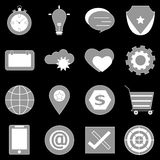 General icons on back background Stock Images