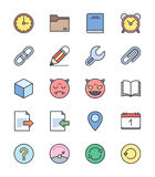 General icons, Color set 2 - Vector Illustration Royalty Free Stock Photo