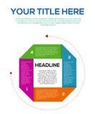 General Infographic para el negocio o los pasos de la cosa creativa stock de ilustración