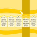 General infographic in yellow shades Stock Photos