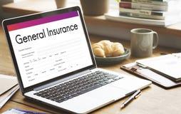 General Insurance Rebate Form Information COncept Stock Image