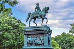 General John Logan Civil War Memorial Logan Circle Washin. General John Logan Memorial Civil War Statue Logan Circle Washington DC.  Statue dedicated in 1901 Stock Photography