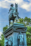 General John Logan Civil War Memorial Logan Circle Washington DC. General John Logan Memorial Civil War Statue Logan Circle Washington DC.  Statue dedicated in Stock Photos