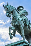 General John Logan Civil War Memorial Logan Circle Washington DC. General John Logan Memorial Civil War Statue Logan Circle Washington DC.  Statue dedicated in Royalty Free Stock Photos