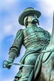 General John Logan Civil War Memorial Logan Circle Washington DC. General John Logan Memorial Civil War Statue Logan Circle Washington DC.  Statue dedicated in Royalty Free Stock Images