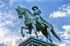 General John Logan Civil War Memorial Logan Circle Washington DC. General John Logan Memorial Civil War Statue Logan Circle Washington DC.  Statue dedicated in Royalty Free Stock Image