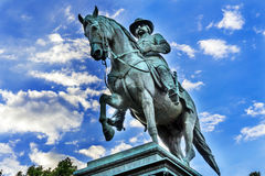 General John Logan Civil War Memorial Logan Circle Washington DC. General John Logan Memorial Civil War Statue Logan Circle Washington DC.  Statue dedicated in Stock Photo