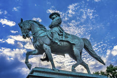 General John Logan Civil War Memorial Logan Circle Washington DC. General John Logan Memorial Civil War Statue Logan Circle Washington DC.  Statue dedicated in Stock Photography