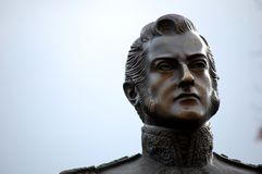 General Jose de San Martin. Statue of General Jose de San Martin - National hero of Argentina royalty free stock photos