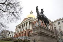 General Joseph Hooker Statue, Boston, Massachusetts, EUA fotos de stock royalty free